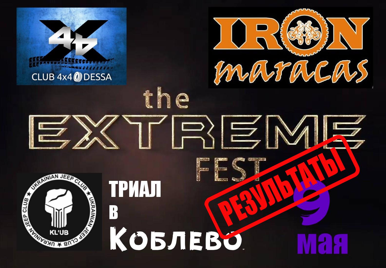 Результаты ТРИАЛА «EXTREME fest»